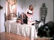 Hot brunette slut spanking big butt nice and hard by Sp