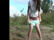 Pissing Outdoor Amatorial Compilation 1