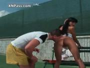 Sexy brunette babe gets her ass sucked hard by XNPass