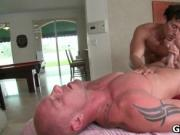 Muscled guy gets his fine tatooed ass fucked 4 by GotRu