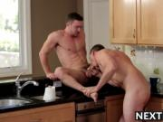 Pierce bends Colt over fucking his meaty ass from behin
