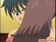 Lucky guy hot fucked two hentai girls