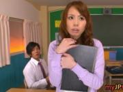 Eri Ouka Sweet Asian teacher enjoys cock 1 by myJPteach