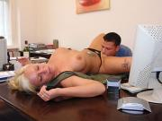 Fucked behind her desk