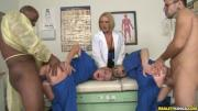 The nurses and Dr. Krissy take turns getting pounded