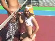 Fucking at the tennis court