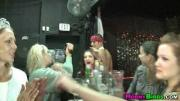 A squad of sex crazed women  a couple male strippers and whip cream
