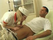 Blonde Nurse Swallows Cock