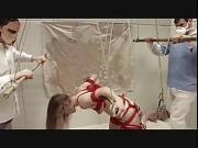 Ass puppet gets anal destruction in the air