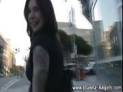 Emo pornstar Joanna Angel sucks
