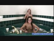 Young Lesbian Do A Masturbation On Bath Tub
