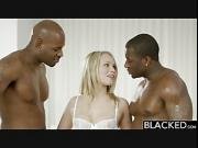 BLACKED Beautiful Blonde Dakota James Screams With 2 Big Black Cocks