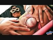 Hot Latina Teen Stretching Pussy With Baseball. Hot Body.