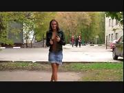 Silvia naked posing in public