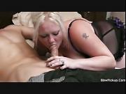 A man fucks chubby blonde