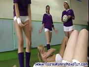 Teen lesbo group show off