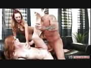 Horny teen Alex Tanner and sexy ginger Dani Jensen fucked hard