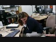 Girl Office overtime