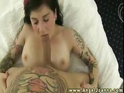 Angel Joanna titty and pussyfucks his cock
