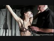 Hardcore bdsm and electric punishments of naughty fetish slaveslut Elise Graves in extreme pain and bondage