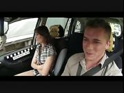 brunette chick fuck by driver