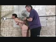 Amateur bondage of suspended Lexy tied up in creative rope rigging and damsel in distress helplessly bound