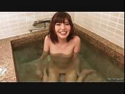 Bathing girl sucking cock