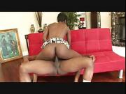 tall skinny ebony girl with small tits gets her ass pounded