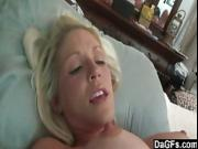 Busty blonde milf filled with jizz