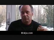 Lucky older gets young pussy at breakfast