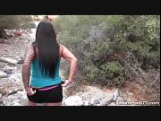 Public flashing and blowjob on nature walk