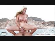 Beauty rich babe Nikki Benz take cock outdoors