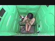 Porta Gloryhole Milf sucks cock in parking lot