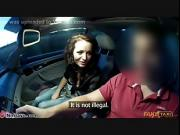 brunette young chick sex in car