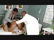Nurse gets frisky with doc and patient