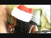 Christmas fuck with hot ebony
