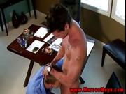 Jock needs straight cock in his mouth before anal