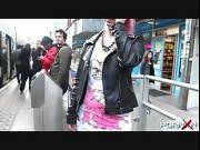 PornXN Dolly Kitten bares it all in public
