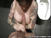 Tattooed Angel Joanna gobbles hard cock in HD