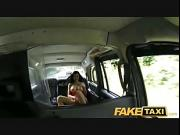 Hot babe loves taxi cock