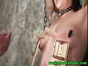 Kinky pierced emo amateur loves BDSM blowjob