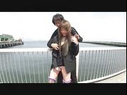 Japanese outdoor stripping and vibrator teasing Subtitled