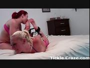 Hogtied, tickled, and loving it