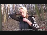 Bitch STOP - Athletic blonde get fucked in the park