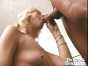 old blondie broad gives blowjob