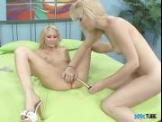 Horny Blonde Babes In Hot Lesbian Action