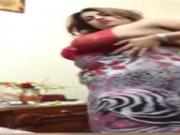 Chubby Arab House Wife Self Video