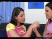 Zafira and Simony lick eachothers clits.