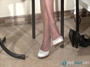 Sunny enjoys to show her feet