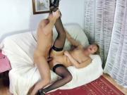Old skanks giving a hot blow job